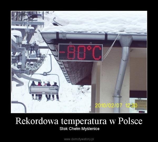 Rekordowa temperatura w Polsce –  Stok Chełm Myślenice