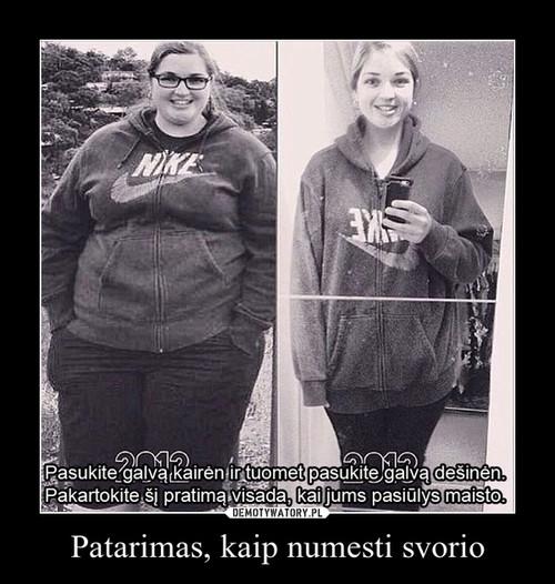Patarimas, kaip numesti svorio