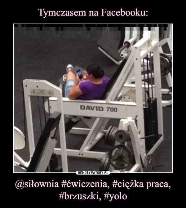 @siłownia #ćwiczenia, #ciężka praca, #brzuszki, #yolo –