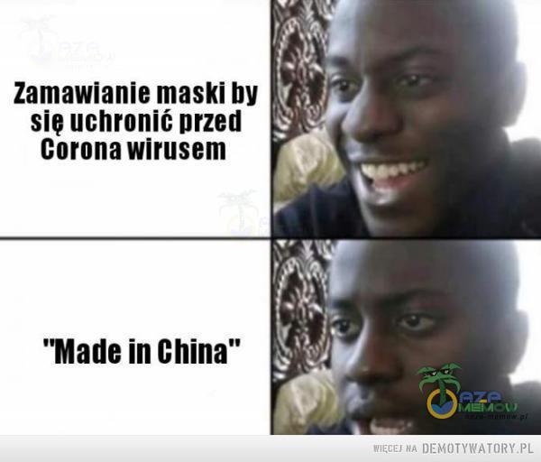 """Koronawirus –  Zamawianie maski b Się uchronić przed Corona wirusem """"Male in China"""""""