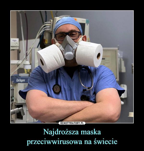 Najdroższa maskaprzeciwwirusowa na świecie –
