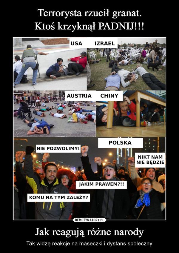 Jak reagują różne narody – Tak widzę reakcje na maseczki i dystans społeczny USA IZRAELAUSTRIA CHINYPOLSKA
