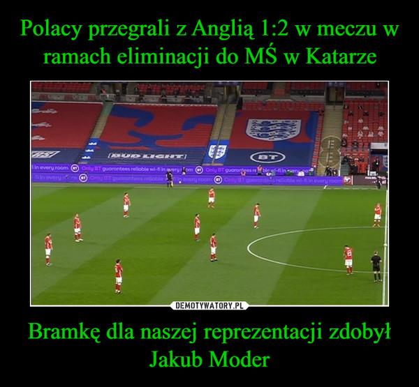 Bramkę dla naszej reprezentacji zdobył Jakub Moder –