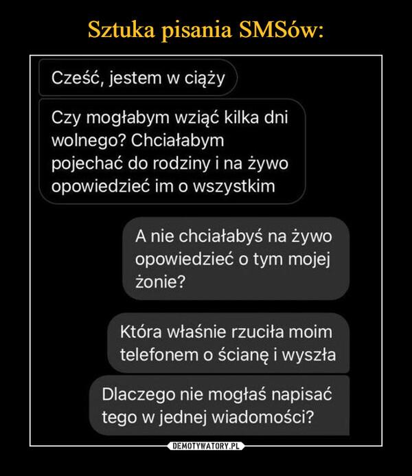 Sztuka pisania SMSów: