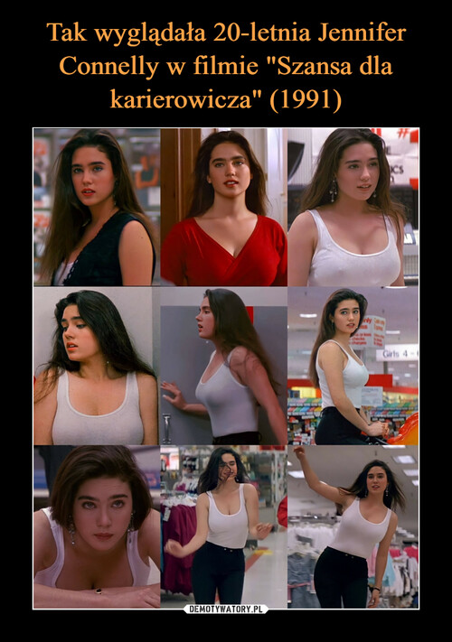 """Tak wyglądała 20-letnia Jennifer Connelly w filmie """"Szansa dla karierowicza"""" (1991)"""