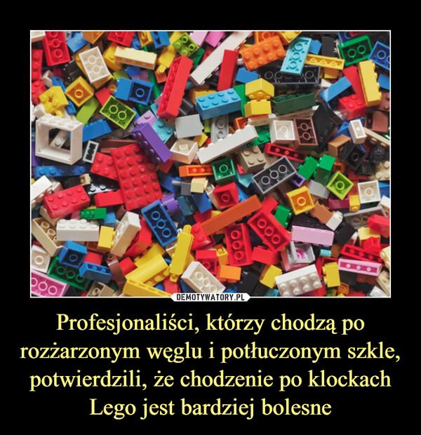 Profesjonaliści, którzy chodzą po rozżarzonym węglu i potłuczonym szkle, potwierdzili, że chodzenie po klockach Lego jest bardziej bolesne –