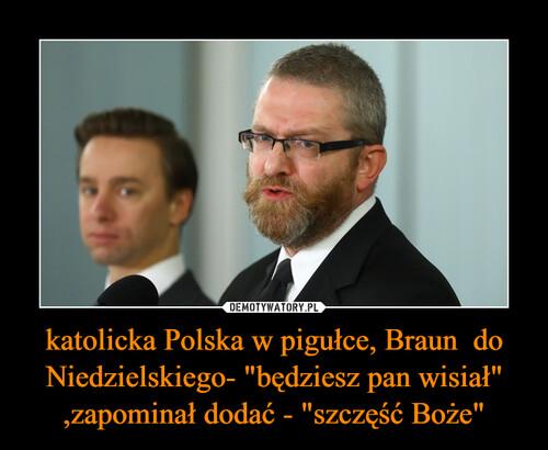 """katolicka Polska w pigułce, Braun  do Niedzielskiego- """"będziesz pan wisiał"""" ,zapominał dodać - """"szczęść Boże"""""""