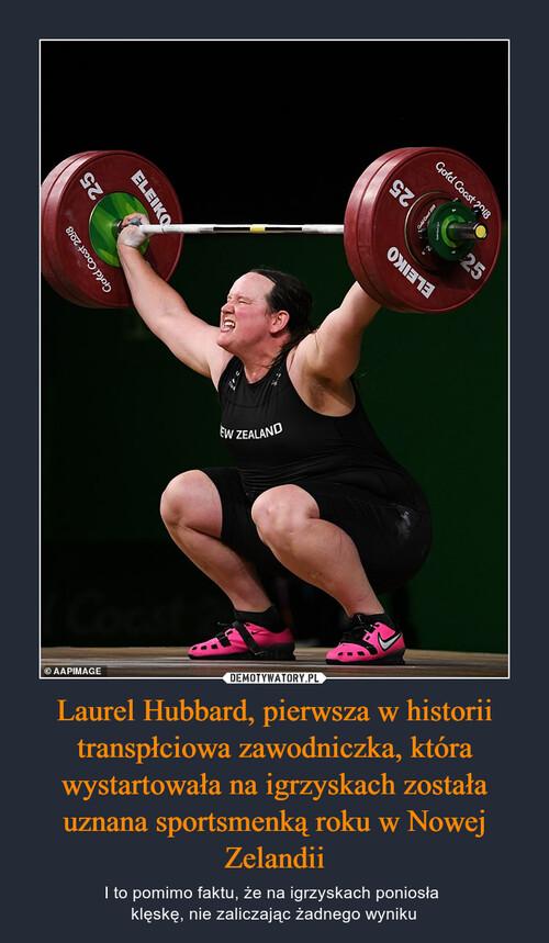 Laurel Hubbard, pierwsza w historii transpłciowa zawodniczka, która wystartowała na igrzyskach została uznana sportsmenką roku w Nowej Zelandii